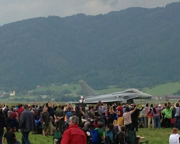 Eurofighter Österreichisches Bundesheer am Nationalfeiertag 26. Oktober